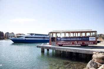 Cruise vessel and tram