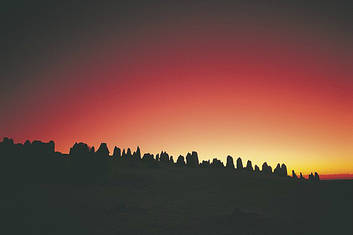 The Pinnacles at Sunset
