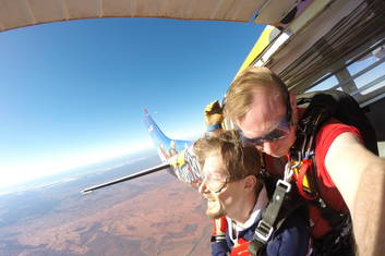 Skydive over the desert at Uluru, a must-do!