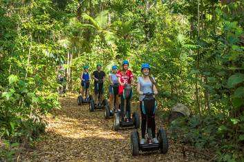 Experience the wonders of riding through the rainforest